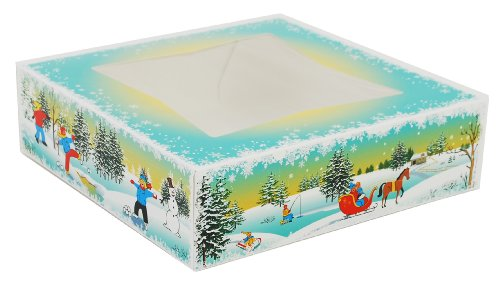 Southern Champion Tray 2496 Paperboard Winter Wonderland Print Window Bakery Box, 9