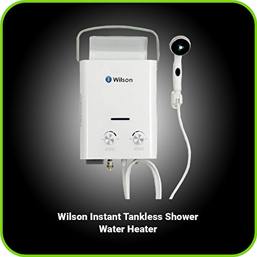 Portable Tankless Water Heater & Outdoor Shower 6 Liter C...