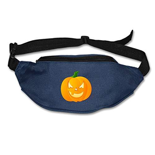 SEVTNY Pumpkin Jack-O-Lantern Face Halloween Scary Evil Waist Pack Bag Fashion Waist Pouch -