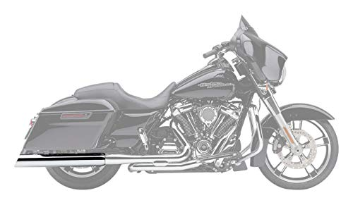 COBRA 06-16 Harley FLHX2 909 Uppercut Slip-On Exhaust (Chrome / 4