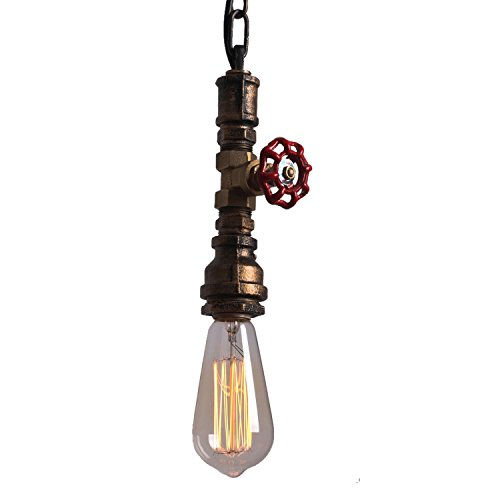 UNITARY BRAND Mini Rustic Copper Metal Water Pipe Pendant Light Max 40W With 1 Light Painted Finish