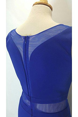 Pia Michi - Vestido - ajustado - Sin mangas - para mujer azul real