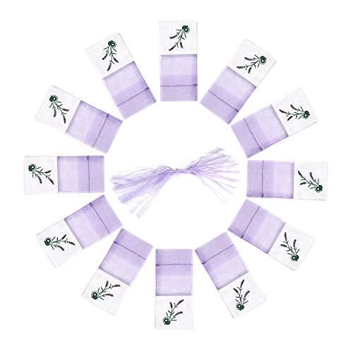 TooGet Sachet Empty Bags Lavender Bags Unique Cotton Bags Organza Gauze Bags 3x6 -