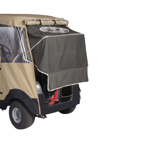 Classic Accessories Fairway Deluxe 4-Sided 2-Person Golf Cart Enclosure For Club Car, Tan by Fairway (Image #4)