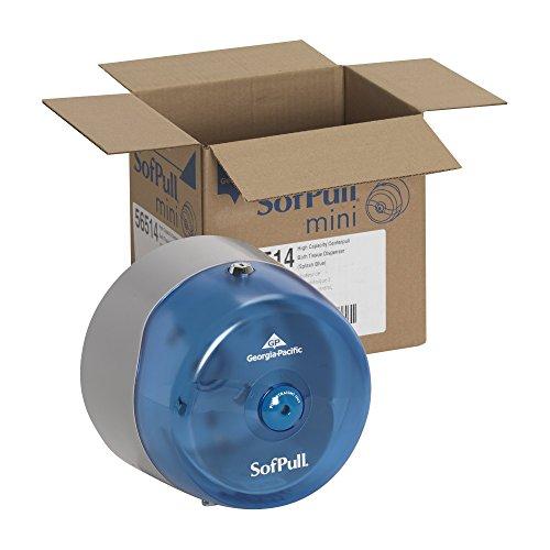 Amazon.com: SofPull 56514 Mini Splash azul de alta capacidad Dispensador Centerpull Papel higiénico: Home Improvement