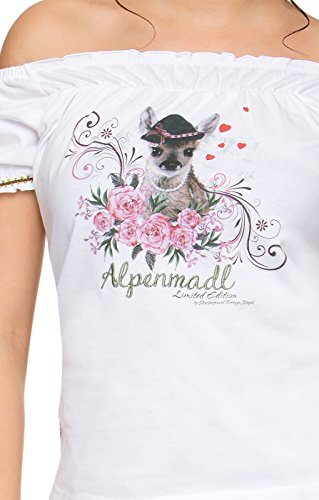 Stockerpoint Trachten T-Shirt Prinzess Alpenmadl weiss