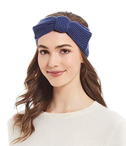 Kate Spade New York Bow Knit Headband, One Size - Rich Ink (Headband Kate Spade)