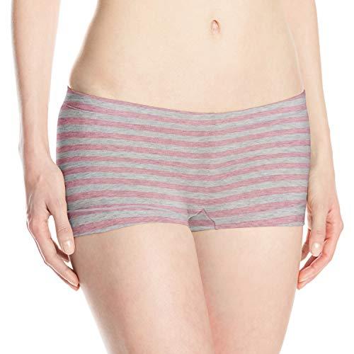 Maidenform Women's Dream Cotton Boyshort, Pink Ribbon Stripe, X-Large/8
