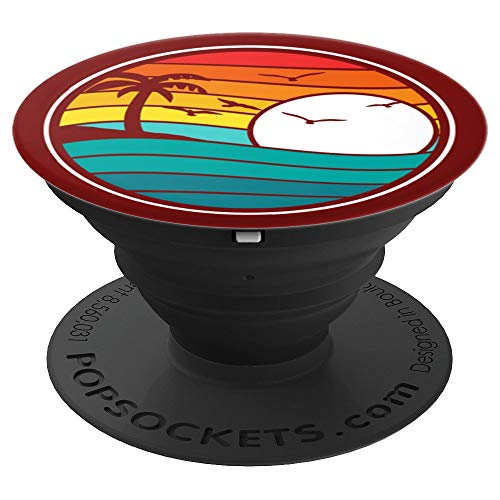 Retro Eighties Beach & Surf Graphic Design - PopSockets Grip and Stand for Phones and Tablets