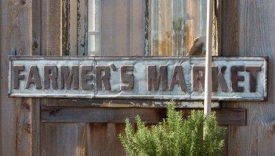 [Park Hill Metal Farmer's Market Sign Min 2] (Market Collection)