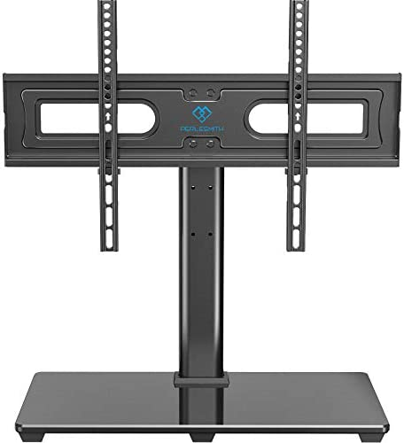 PERLESMITH Universal TV Stand Table Top TV Base for 37 to 70 inch LCD LED OLED 4K Flat Screen TVs - Height Adjustable TV Mount Stand with Tempered Glass Base, VESA 600x400mm, Holds as much as 99lbs