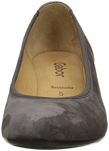 Gabor Shoes Basic, Zapatos de Tacón para Mujer Gris (zinn 19)