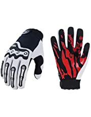 Vgo 1Pair Full Finger Touchscreen Motorcycle Gloves,Mountain Cycling Gloves,Riding Gloves,Knuckle Protection,Workout,Tactical,Racing,Outdoor Gloves(MF5180)