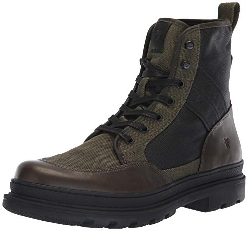 FRYE Men's Scout Combat Boot, Olive Multi, 11.5M M US (Combat Male Boots)