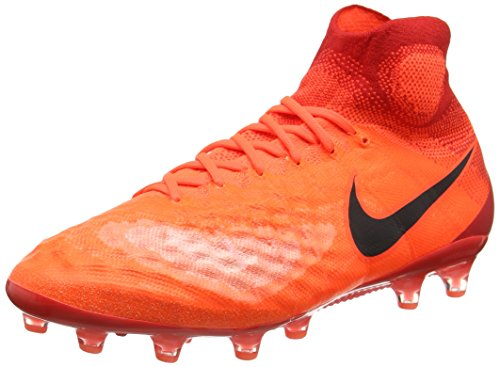 Nike Magista Obra Ii Ag-Pro, Botas de Fútbol para Hombre Rojo (Total Crimson / Black-University Red-Brite Mango)