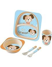 Kit Alimentação Baby 5 Peças Cachorro, Zoop Baby, Multicor