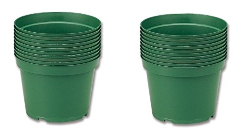 Neo Sci 01-1177 High Impact Plastic Flower Pot, 6″ Diameter (Pack of 10) (Set of 2) For Sale