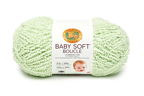 Yarn Boucle Polyester (Lion Brand Yarn 918-173 Baby Soft Boucle Yarn, Sprout)