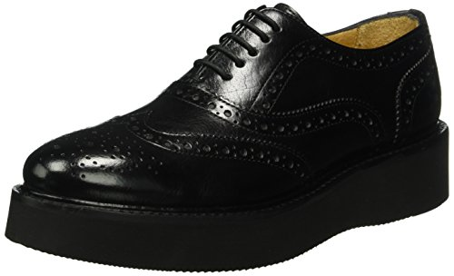 Melvin&Hamilton Molly 2, Zapatos de Cordones Derby para Mujer Negro - Schwarz (Classic Black/ XL Ginger Black)