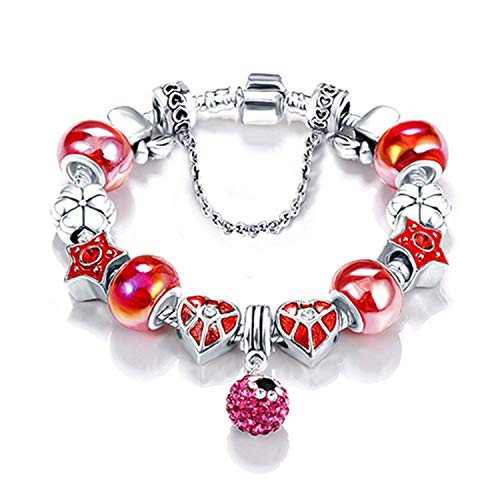 Newly Bottom Price Promotion 2 Weeks Antique Silver Original Women Glass Charm Bracelet & Bangle Fit Charm ()