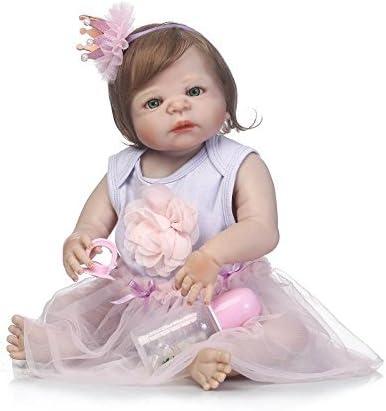 57cm Full Body Soft Silicone Vinyl Reborn Baby Dolls Newborn Girl Doll Xmas Gift