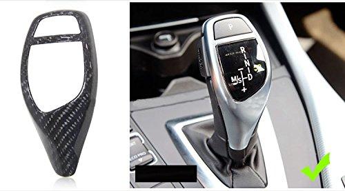 Eppar New Carbon Fiber Shift Knob Cover 1PC for BMW 4 Series Gran Coupe F36 2014-2018 420i 428i 435i (Shift Knob Cover 1PC B-Style) ()