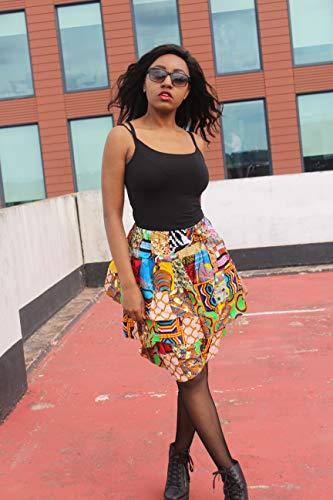 - Patchwork Skirt African Skirt Ankara Skirt Rah Rah Skirt Ethical Clothing Bohemian Clothing Ethnic Skirt Layered Skirt Festival Skirt