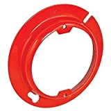 5 Pcs, Zinc Plated Steel Painted Red 4 In. Round Raised Device Ring, 1/2 In. Raised, 2-3/4 In. Center to Center For Fixtures, Security Cameras, Motion Detectors & Devices On Walls & Ceilings