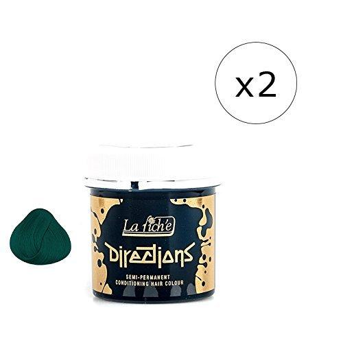 La Riche Directions Semi-Permanent Hair Colour Dye x2 Pack-Alpine Green (dir) (Alpine Directions La Riche)