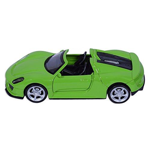 Roadburner 1:36 Scale Custom Cougar Die-Cast Pull Back Car (Green)