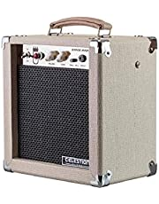 Monoprice 611705 5-Watt 1x8 Guitar Combo Tube Amplifier - Tan/Beige with Celestion Super 8 Inch Speaker, 12AX7 Preamp, Versatile and Durable For All Electric Guitars
