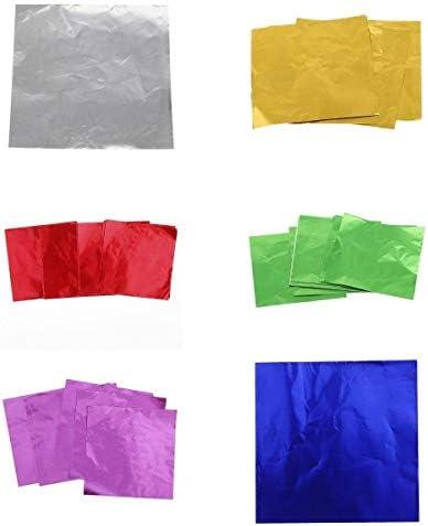 B Blesiya 箔ラッパー 金属箔 装飾キャンディ包装紙 プレゼントラップシート