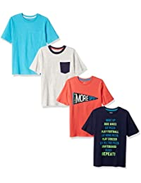 0b197f56 Amazon Brand - Spotted Zebra Boys' Toddler & Kids 4-Pack Short-Sleeve