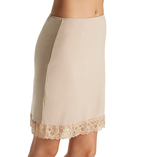 Jones New York Silky Spandex 19 Inch Half Slip with Lace (720219) M/Nude