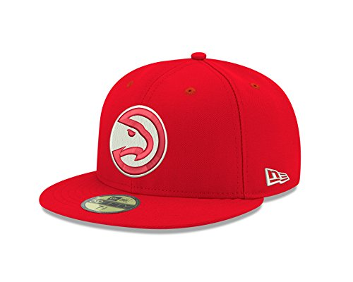 NBA Atlanta Hawks Men's Official 59FIFTY Fitted Cap, 7.625, Red (Atlanta Hawks Fitted Cap)