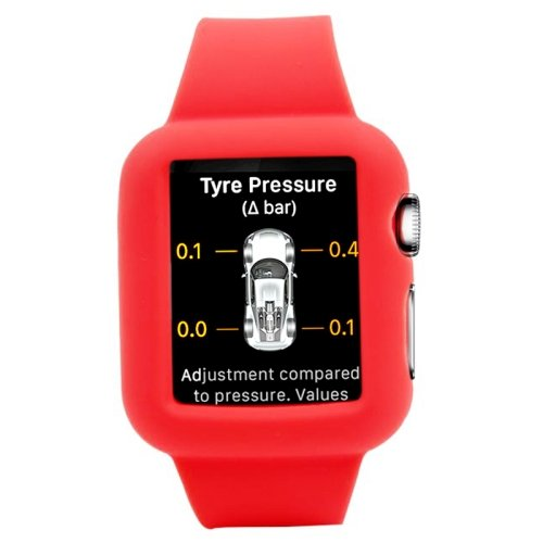 alsatek Pulsera de Silicona para Apple Watch 38 mm Rojo