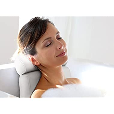 Luxury Home Spa Bath Pillow • Deep Cushion Cradles Head and Neck, Hugs Shoulders, Optimises Back Support • Pure Indulgence • Comfort Guaranteed