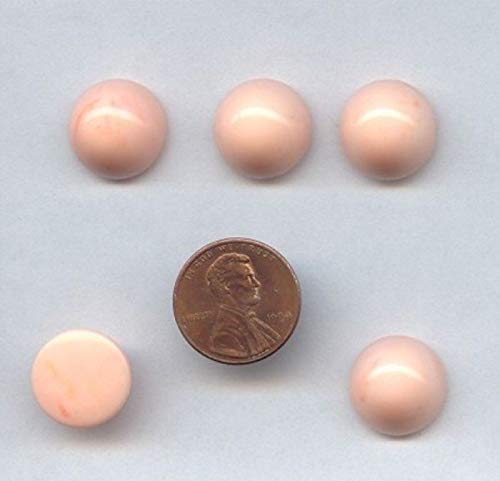 24 Vintage Angel Skin Marble Acrylic 15mm. Round Smooth Dome CABOCHONS