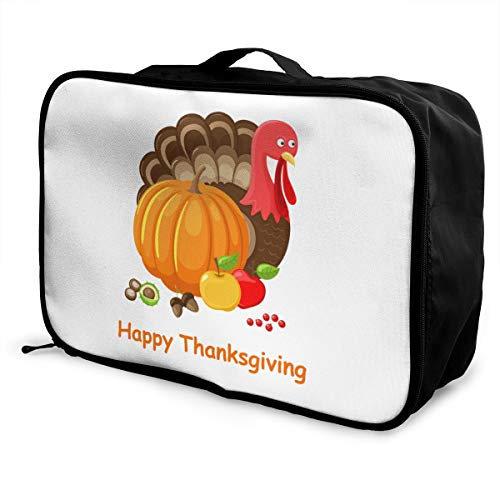 Thanksgiving Day Lightweight Large Capacity Portable Luggage Bag Fashion Travel Duffel Bag