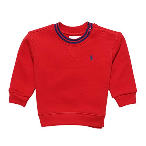 (ポロ ラルフローレン)POLO RALPH LAUREN ベビー 男の子 トレーナー Cotton-Blend-Fleece Sweatshirt レッド Faded Red (12M) [並行輸入品]