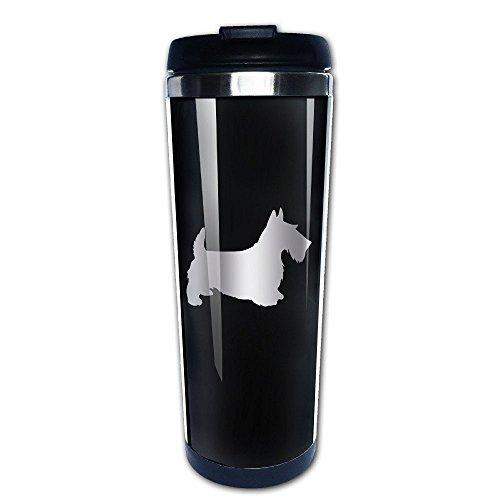 Stainless Steel Scottie Dog Platinum Style Tumbler Coffee Mug