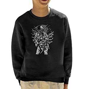 Steampunk Style Soldier Kid's Sweatshirt
