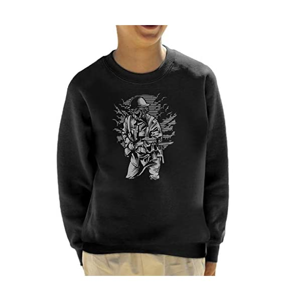 Steampunk Style Soldier Kid's Sweatshirt 3