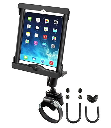 ATV UTV Strap Rail Mount Fits Apple iPad Air 1 2 w/LifeProof & Otterbox CaseS by RAM