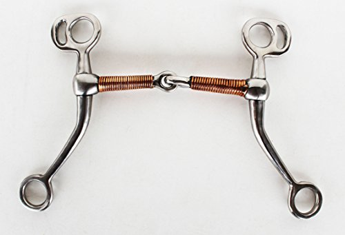 Circle Y Equine Stainless Steel Tom Thumb Copper Wire Mouth Horse Bit Tack 35439
