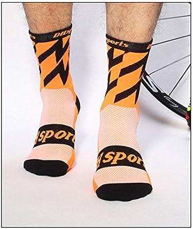 HermosaUKnight Calcetines de Ciclismo Deportes Bicicleta Correr ...