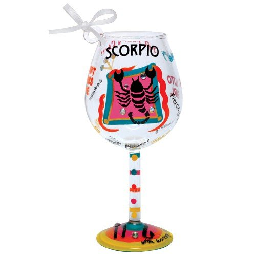 Santa Barbara Design Studio Lolita Holiday Mini-Wine Ornament, Scorpio (Ornaments Wine Glass)