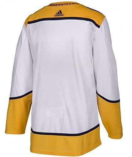 adidas Nashville Predators Road White NHL Men's Climalite Authentic Team Hockey Jersey (60 XXXL)