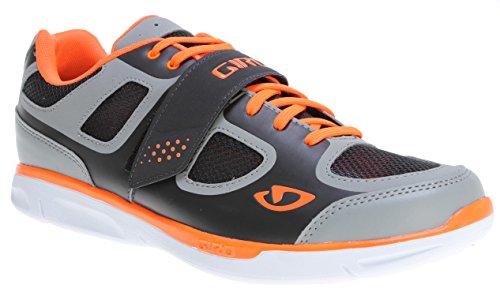 Giro 2014 Men's Grynd Spinning/ Mountain Bike Shoes (Silver/Fluorescent Orange - 42)