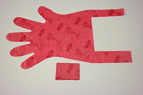 - Gluvlt 2 in 1 Disposable Pet Waste Bag and Glove with Handle Ties 500 Bags (Pink)